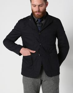 Engineered Garments FW12 Unlined Bedford Jacket Navy Cotton Whipcord