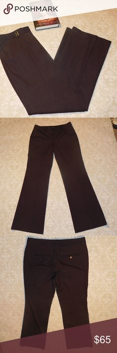 New Purple Express Barely Boot Editor Pants NWOT size 6R Express Editor Low Rise Barely Boot pants in a deep purple.  Measurements: Waist: 16.5 inches Inseam: 32.5 inches Rise: 9 inches Express Pants
