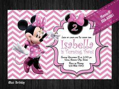 DIY Pink Minnie Mouse Digital Invitation for by iBlastBirthday, $10.00