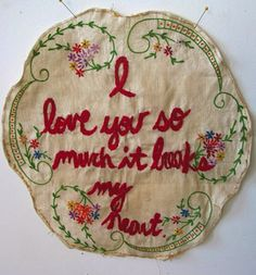 Embroidery workshop with Joetta Maue at Craftwork Somerville (Somerville, MA) Vintage Embroidery, Embroidery Applique, Embroidery Stitches, Embroidery Patterns, Stitch Patterns, Textiles, My Heart Is Breaking, Softies, Textile Art