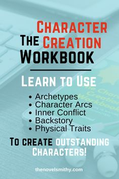 The Character Creation Workbook has just launched! This free workbook will help teach you how to use character archetypes, character arcs, backstory, inner conflict, and descriptions to create memorable characters your readers will love! Perfect for anyon Writing Images, Book Writing Tips, Writing Quotes, Fiction Writing, Writing Resources, Writing Help, Writing Skills, Writing Prompts, Writing Checklist