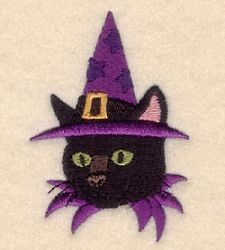Witch Cat - 4x4 | What's New | Machine Embroidery Designs | SWAKembroidery.com Starbird Stock Designs