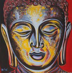 "BUDDHA PEACE 24X24"" oil on canvas by DRAGO MILIC"