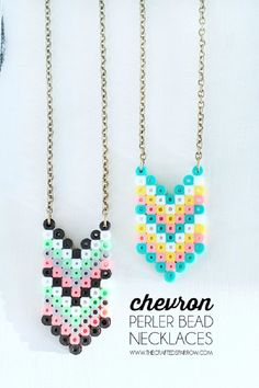 Diy Chevron Perler Bead Necklace - Trust us, the crafts that include perler beads are so easy to make, everyone can create something cool with them, from children to man. So don't be afraid to try and make your girlfriend, mother or any other women in your life this unique necklace. The perfectly chosen colors will make this perler bead necklace the coolest accessory ever!