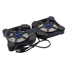 USB Powered Foldable Cooling Pad with 2 Fans - for 12-17  Laptop / Notebook