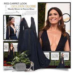 """Golden Globes: Mandy Moore"" by thewondersoffashion ❤ liked on Polyvore featuring Plukka, Naeem Khan, STELLA McCARTNEY, Jimmy Choo and Suzanne Kalan"
