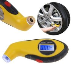 LCD Digital Tire Tyre Air Pressure Gauge Tester Tool For Auto Motorcycle  $4.24 on eBay