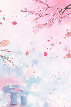 Best Flower Wallpaper, Cherry Blossom Wallpaper, Wallpaper Nature Flowers, Cherry Blossom Art, Pop Art Wallpaper, Spring Wallpaper, Iphone Background Wallpaper, Kawaii Wallpaper, Flower Backgrounds