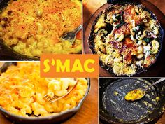 """East Village Sarita's Macaroni and Cheese (NYC) Known as """"S'mac,"""" this café serves huge cast-iron skillets of mac 'n' cheese filled with pretty much anything imaginable. If dairy's not your thing, there are vegan options too. Mac And Cheese Nyc, Vegan Mac And Cheese, Macaroni And Cheese, Mac Nyc, Road Trip Food, Nyc Restaurants, Unique Restaurants, Cast Iron Cooking, Gourmet"""
