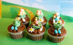 Cabbage Patch cupcakes
