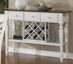 Nice Small Dining Rooms | Antique White Small Dining Room Sideboard