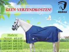 De Horka Summer Rain Rug is een regendeken van 600 Denier en is geheel waterproof. Naast de luxe uitstraling is deze regendeken voorzien van: dubbele voorsluitingen, loopsplitten, kruissingels, bilkoorden en een lange staartflap wat zorgt voor een goed draagcomfort.  http://happyhorsedeal.nl/deal-van-de-week.html  Maat: 125 t/m 215 Kleur: blauw/zilvergrijs ruit  Normaal: € 89.95  Nu € 59,95!  Geen verzendkosten