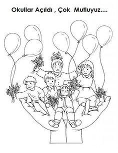 İlköğretim Haftası Boyama Coloring Pages For Kids, Coloring Books, English Classroom, English Kindergarten, Teachers' Day, Pre School, Doodle Art, Preschool Activities, Children