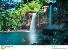 Photo about Amazing beautiful waterfalls in deep forest at Haew Suwat Waterfall in Khao Yai National Park, Thailand. Image of lake, oxygen, rain - 66864142 Khao Yai National Park, National Parks, Mermaid Lagoon, Deep Forest, Beautiful Waterfalls, Peter Pan, Jr, Choices, Thailand