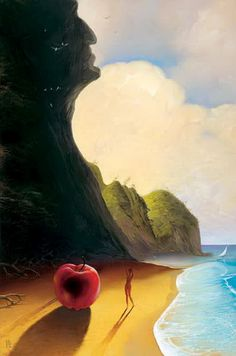 Surreal painting by Victor Bregeda, 1963