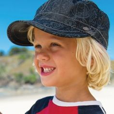 This great new season's boys mao is perfect for the sun or just wear for style. It has a dark grey and black print and is soft cotton. Sun Hats, Black Print, Baseball Hats, Cap, Dark Grey, Boys, Cotton, How To Wear, Style