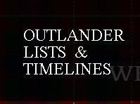 An online almanac of lists & TIMELINES created from Diana Gabaldon's Outlander series of books