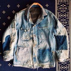 bandannawanderings: #btwxtba Denim Blanket Lined Hobo Jacket. @naritabby