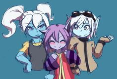 League of Legends for a change, drawing the Yordle girls: Poppy, Lulu and Tristana