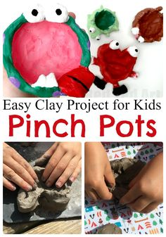 Wonderful Clay Pinch Pot DIY - a great way of intrducing kids to working with clay.We made great Pinch Pot designs for Fall and Halloween!