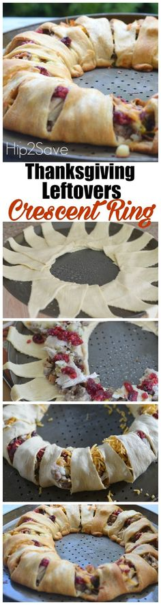If you'll be serving a traditional turkey dinner soon, check out this unique recipe idea that incorporates your leftovers! All you need to make this beautiful crescent ring are some convenient store bough refrigerated rolls and your yummy leftovers. (It's better than eating turkey sandwiches all week.)