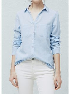 Блузка Mango. Цвет синий.