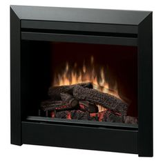 29.8-in W 4,692-BTU Black Metal Wall-Mount Electric Fireplace with Thermostat and Remote Control