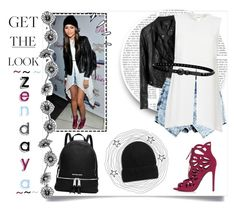 """# Get The Look 04. ~ Zendaya ♡"" by sarkata-boo-bear ❤ liked on Polyvore featuring Elizabeth and James, Topshop, Linea Pelle, MICHAEL Michael Kors and Old Navy"