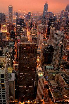Chicago Nightshot by Hawg