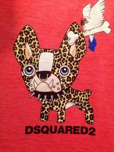 French Bulldog Illustration for D2 Advertisement.