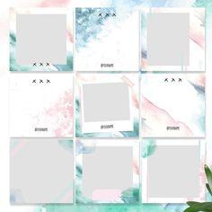 Easy colorful makeup looks 44 Ideas Instagram Feed Layout, Instagram Grid, Instagram Frame, Instagram Design, Instagram Story Template, Instagram Posts, Instagram Templates, Social Media Template, Social Media Design