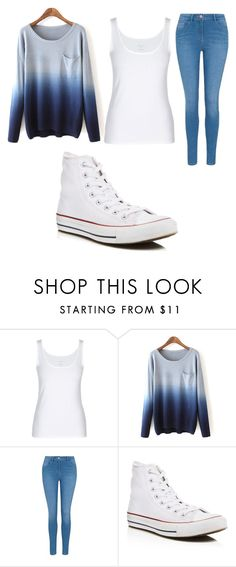 """""""Just a simple quick outfit I've put together #hightops #sweaters"""" by mairethekiller on Polyvore featuring George and Converse"""