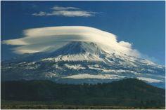 Lenticular clouds over Mount Olympus