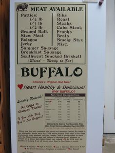 Locally raised Buffalo meat for sale at Fulton Farms