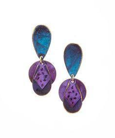 Love this Purple Geo Cutout Drop Earrings on #zulily! #zulilyfinds
