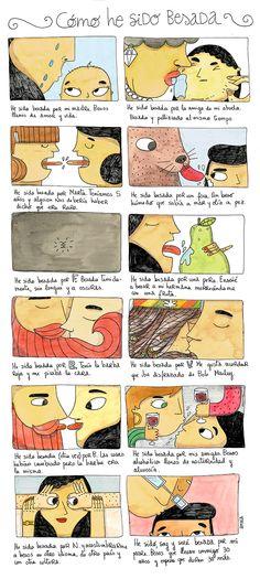 """Cómo he sido besada. Ejercicio del taller Marrazioak """"Lecciones de Cosas"""" 2015"""