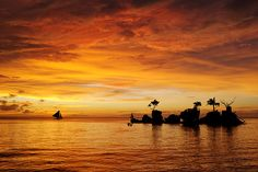 The best sunset in the world. Boracay, Philippines.