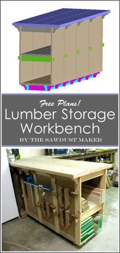 Custom Workbench building plans... with built-in lumber storage! (The Sawdust Maker)