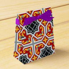Modelo octagonal rojo de la teja de Barcelona Cajas Para Detalles De Boda