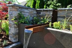 exterior landscaping beams results - ImageSearch Steel Beams, Small Pools, Small Garden Design, Patio Roof, Contemporary Landscape, Water Features, Exterior Design, Decoration, Backyard