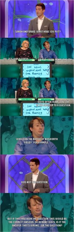 Is it the answer that's wrong? Or the question? | David Mitchell | The Big Fat Quiz of the 00's