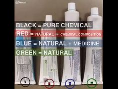 Toothpaste color coding Note: Baking Soda & Hydrogen Peroxide would be considered total chemicals. Read the ingredients labels. Toothpaste Colors, Best Toothpaste, Simple Life Hacks, Useful Life Hacks, Tooth Paste Color Code, Health And Beauty Tips, Health Tips, Color Coding Notes, Baking Soda Hydrogen Peroxide