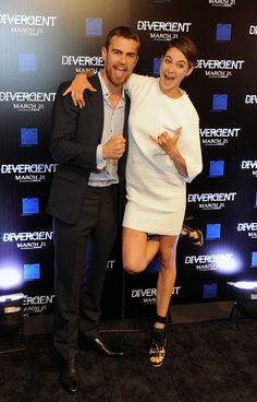 Shailene Woodley and Theo James.  Love them.