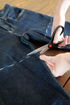 Photo 7- How To DIY 3 Extra-Cute Pairs Of Cut-Off Shorts- wish I would've looked at this before I did mine!