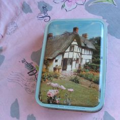Vintage Fillerys Toffee Candy Tin English Cottage Stratford-on-Avon Birmingham England by lookonmytreasures on Etsy