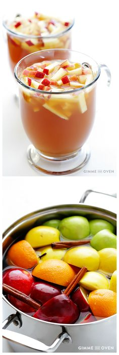 Homemade Apple Cider -- did you know that it is super easy to make apple cider from scratch?  Plus you can customize it with your favorite spices and sweetener, and it makes your home smell AMAZING | gimmesomeoven.com
