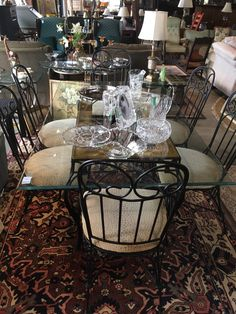 Table Six Chairs - 2 Are Captain Chairs  - Auburn SKU A3K72B - On Sale for $300.00 (was $600)