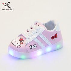 HITOMAGIC Led Schuhe Kinder Mit Leuchtenden Sohlen Für Jungen Mädchen  Sommer Kinderschuhe Mädchen Jungen Schuhe Espadrilles 4c78b70fd6