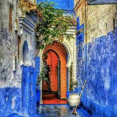 Photo Chefchaouen city in HDR mode by Mohamed Ali Lyamani on Places Around The World, Around The Worlds, Blue City, Morocco Travel, Beautiful Places To Travel, Marrakesh, Moorish, Travel Aesthetic, Casablanca