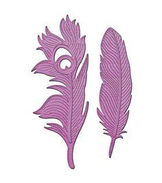Spellbinders Shapeabilities Feathers On The Wind In